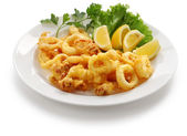 Fried calamari — Stock Photo