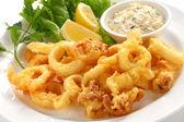 Fried calamari — Stock Photo