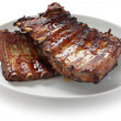 Stock Photo: Barbecued pork spare ribs