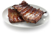 Barbecued pork spare ribs — Foto Stock