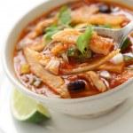 Tortilla soup, mexican cuisine — Stock Photo #13768329