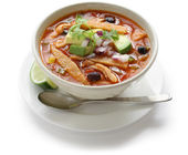 Tortilla soup, mexican cuisine — Stock Photo