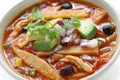 Sopa de tortilla, cocina mexicana — Foto de Stock