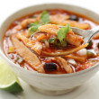 Tortilla soup, mexican cuisine - Stock Photo
