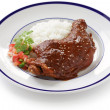 Chicken mole, mexican cuisine - Stock Photo