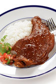 Chicken mole, mexican cuisine — Stock Photo