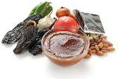 Mole poblano sauce, mexican cuisine — Stock Photo