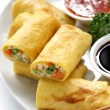 Vegetarian egg rolls — Stock Photo #15358845