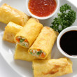 Vegetarian egg rolls — Stock Photo