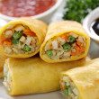 Vegetarian egg rolls — Stock Photo #15433377