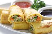 Vegetarian egg rolls — Stock Photo