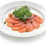 Smoked salmon salad — Stock Photo #15624221
