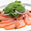 Smoked salmon salad — Stock Photo #15624225