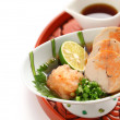 Ankimo, steamed monkfish liver, japanese cuisine — Stock Photo