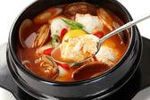 Jjigae sundubu, cuisine coréenne — Photo