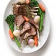 Roasted lamb rib chops — Stock Photo