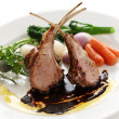 Roasted lamb rib chops — Stock Photo #18832349