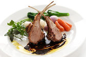 Roasted lamb rib chops — Stockfoto