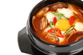 Sundubu jjigae, korean cuisine — Stock Photo