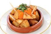 Patatas bravas, spanish tapas cuisine — Stock Photo