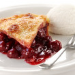 Cherry pie with ice cream — Stock Photo #22758134