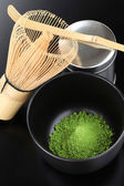Matcha, powdered green tea — Stock Photo