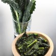 Black kale chips - Stock Photo