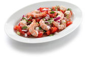 Shrimp ceviche , prawn ceviche — Stock Photo