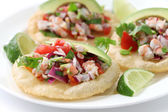 Tostadas de ceviche — Stock Photo
