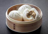 Steamed pork buns — Stockfoto