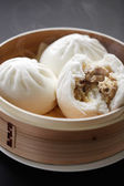 Steamed pork buns — Stock Photo