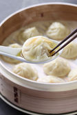 Soup dumplings, xiaolongbao, xiao long bao, chinese food — Stock Photo