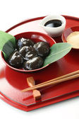 Warabimochi, traditonal japanese confectionery — Stock Photo