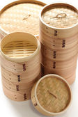 Bamboo steamer set — Stock Photo