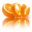 Постер, плакат: Peeled orange and reflection