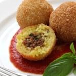 Arancini, fried rice balls — Stock Photo #28897259