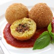 Arancini, fried rice balls — Stock Photo