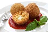 Arancini, fried rice balls — Stock Photo