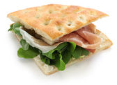 Focaccia panino, italian sandwich — Stock Photo