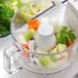 Stockfoto: Food processor, kitchen equipment