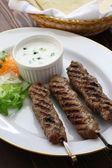Ground lamb kebab — Stock Photo