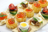 Assorted canape — Stock Photo