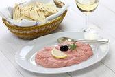 Cod roe dip, Greek food — Stock Photo