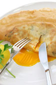 Brik, egg and tuna turnover, tunisian food — Stock Photo