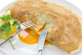 Brik, egg and tuna turnover, tunisian food — Stock fotografie