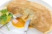 Brik, egg and tuna turnover, tunisian food — Stock Photo
