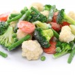 Foto Stock: Homemade frozen vegetables