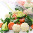Stock Photo: Homemade frozen vegetables