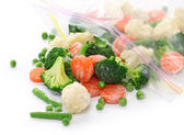 Homemade frozen vegetables — Stock Photo