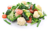 Homemade frozen vegetables — 图库照片